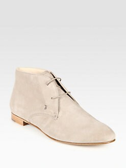 Tod's - Suede Lace-Up Ankle Boots