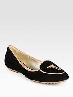 Tod's - Suede Leather-Trimmed Loafers