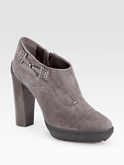 Tod's - Double T Suede Ankle Boots