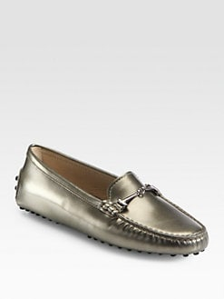 Tod's - Metallic Leather Drivers