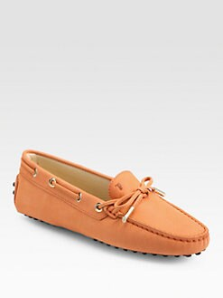 Tod's - Brushed Leather Lace-Up Drivers