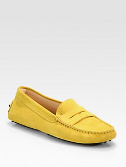 Tod's - Gommini Suede Moccasins
