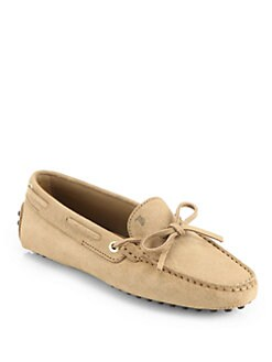 Tod's - Suede Lace-Up Drivers