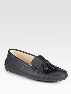 Tod's - Leather Tassel Moccasin Loafers