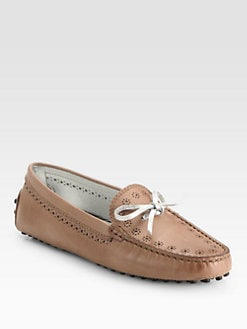 Tod's - Leather Optical Flower Perforated Drivers