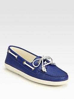 Tod's - Bicolor Leather Lace-Up Drivers