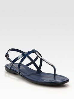 Tod's - Patent Leather Thong Sandals