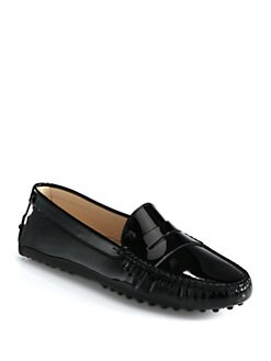 Tod's - Patent Leather Moccasin Drivers