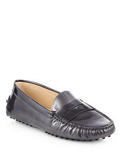 Tod's - Pinstripe Leather Moccasin Loafers