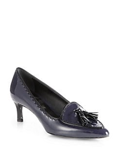Tod's - Patent Leather Tassel Pumps