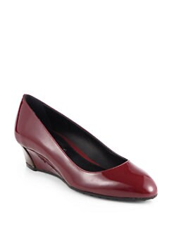 Tod's - Patent Leather Wedge Pumps