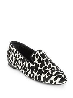 Tod's - Leopard-Print Pony Hair Smoking Slippers