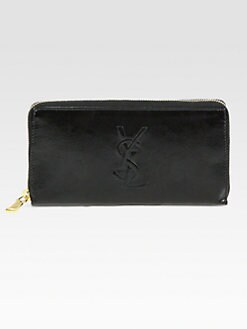 Saint Laurent - BDJ Patent Leather Zip-Around Wallet