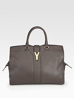 Saint Laurent - Cabas Chyc Large Leather East West Bag