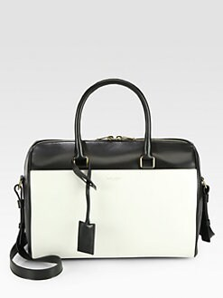 Saint Laurent - Saint Laurent Bicolor Duffle 6 Bag