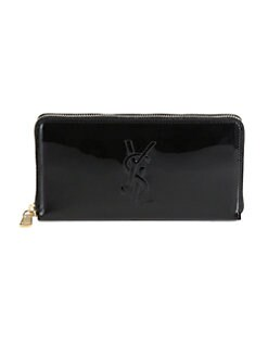 Saint Laurent - Saint Laurent  Zip-Around Patent Leather Wallet