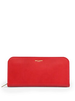 Saint Laurent - Saint Laurent Marquage Zip-Around Leather Wallet