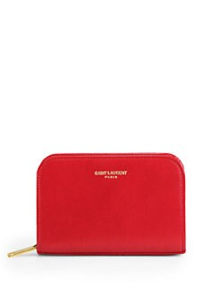 Saint Laurent - Saint Laurent Marquage Zip-Around Leather Coin Purse