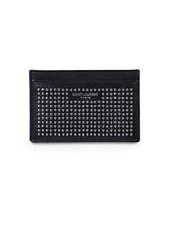 Saint Laurent - Saint Laurent Clous Paves Credit Card Case