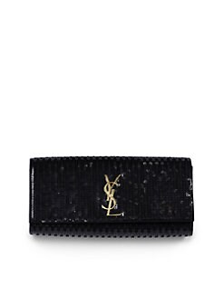 Saint Laurent - Saint Laurent Cassandre Sequined Clutch
