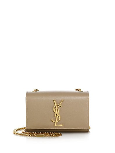 SAINT LAURENT Monogram Small Leather Chain Shoulder Bag
