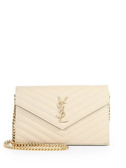 Saint Laurent - Saint Laurent Monogram Chained Shoulder Bag