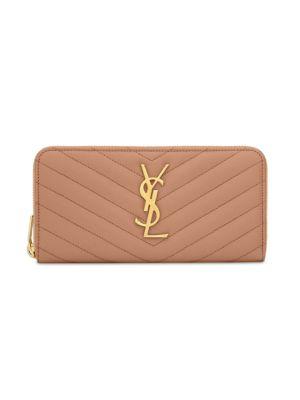 Monogram Leather Zip Continental Wallet