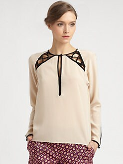 Nanette Lepore - Silk Visual Top