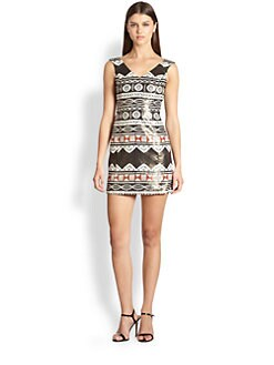 Nanette Lepore - Aztec Linen Dress
