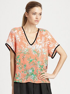 Nanette Lepore - Entranced Silk Top