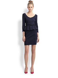 Nanette Lepore - Ponte Knit Peplum Dress