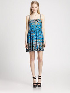 Nanette Lepore - Bandana Print Blindfold Dress