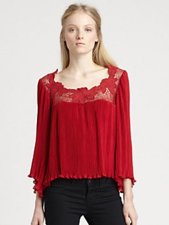 Nanette Lepore - Apaloosa Lace Wild Flower Top