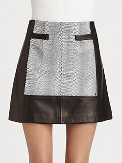 Nanette Lepore - Leather Spinning Skirt