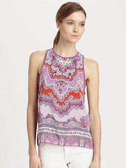 Nanette Lepore - Embellished Silk Top