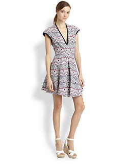 Nanette Lepore - Silk/Linen Deep Cove Dress