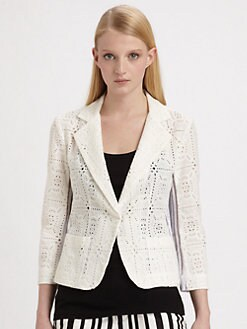 Nanette Lepore - Barcelona Mixed Media Blazer