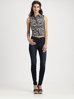 Nanette Lepore - Silk Snakeskin Print Top