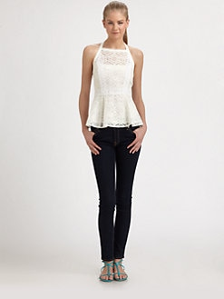 Nanette Lepore - Lace Peplum Top