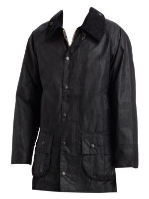 Corduroy Collar Waxed Jacket