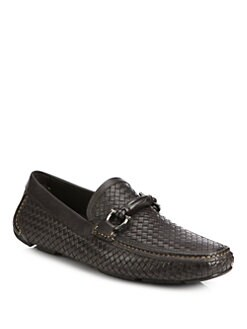 Salvatore Ferragamo - Woven Leather Drivers