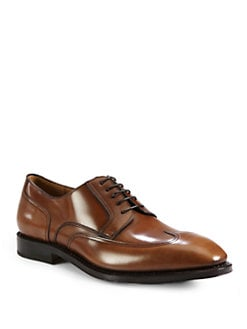 Salvatore Ferragamo - Leather Wingtip Lace-Up