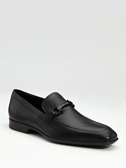 Salvatore Ferragamo - Crown Rubber-Sole Moccasins