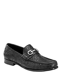 Salvatore Ferragamo - Giostra Crocodile Moccasins