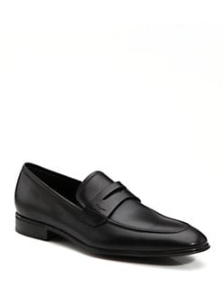 Salvatore Ferragamo - Corrado Rubber-Sole Moccasins