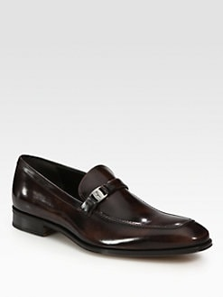 Salvatore Ferragamo - Destin Burnished Loafers