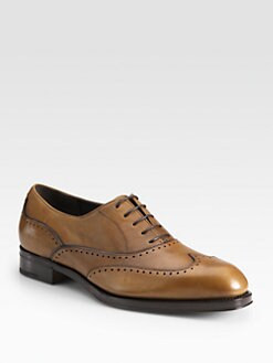 Salvatore Ferragamo - Fable Leather Wingtip Oxfords
