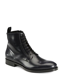 Salvatore Ferragamo - Lace-Up Leather Boots