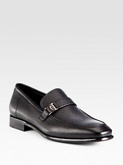 Salvatore Ferragamo - Pebbled Leather Loafers