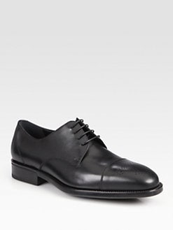 Salvatore Ferragamo - Aramix Medallion Captoe Lace-Ups